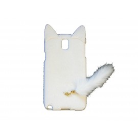 Coque pour Samsung Galaxy Note 3/N9000 oreilles de chat blanc+ film protection écran offert