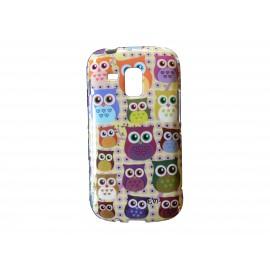 Coque TPU pour Samsung Galaxy Trend/S7560 hiboux multicolores + film protection écran offert