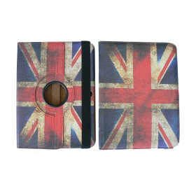 Pochette pour Samsung Tab 3 10.1 P5200 UK/Angleterre vintage + film protection écran