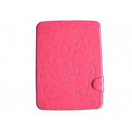 Pochette pour Samsung Tab 3 10.1 P5200 simili-cuir rose bonbon + film protection écran