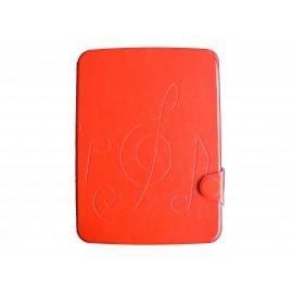 Pochette pour Samsung Tab 3 10.1 P5200 simili-cuir rouge + film protection écran