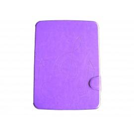 Pochette pour Samsung Tab 3 10.1 P5200 simili-cuir violette + film protection écran