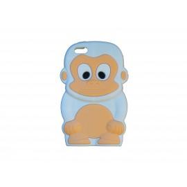 Coque silicone pour Iphone 5C singe blanc + film protection écran