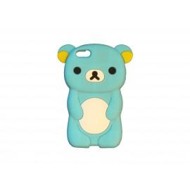 Coque silicone pour Iphone 5C ourson bleu + film protection écran