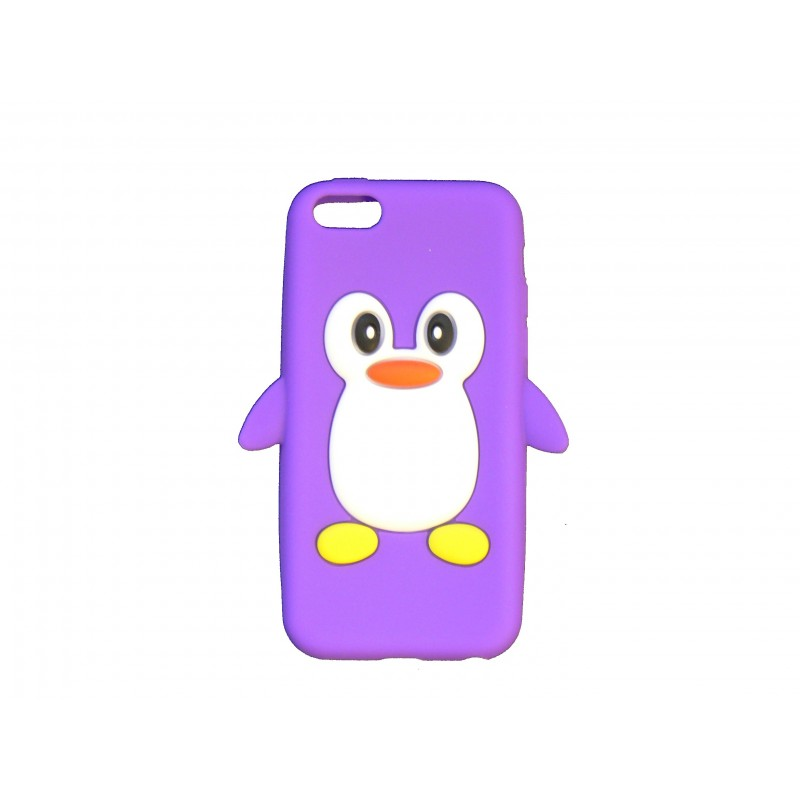 Coque silicone pour iphone 5c pingouin violet for Coque iphone 5 miroir