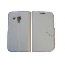 Pochette pour Samsung S7560 Galaxy trend blanche + film protectin écran