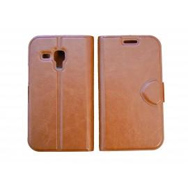 Pochette pour Samsung S7560 Galaxy trend marron + film protectin écran