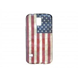 Coque TPU Samsung Galaxy S5 G900 USA/Etats-Unis vintage  + film protection écran offert