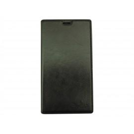 Pochette simili-cuir pour Nokia Lumia 1520 noire + film protection écran