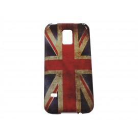 Coque TPU Samsung Galaxy S5 Mini G800 UK/Angleterre+ film protection écran offert