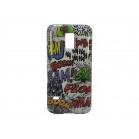 Coque TPU Samsung Galaxy S5 Mini G800 bande dessinée + film protection écran offert