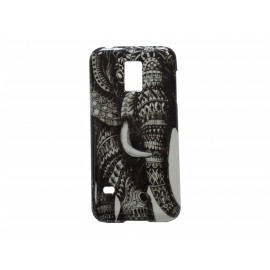 Coque TPU Samsung Galaxy S5 Mini G800 éléphant + film protection écran offert