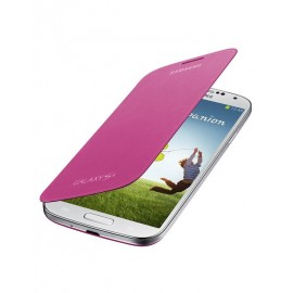 Flip cover origine Samsung Galaxy S4 I9500 rose fuschia+ film protection écran