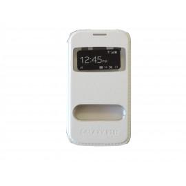 Pochette pour Samsung Galaxy core I8260 simili-cuir blanche + film protection écran