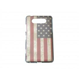 Coque TPU pour Nokia Lumia 820 USA/Etats-Unis vintage + film protection écran offert