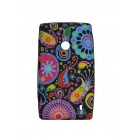 Coque pour Nokia Lumia 520 cachemire multicolore + film protection écran offert