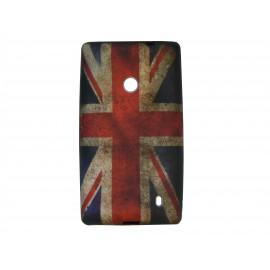 Coque pour Nokia Lumia 520 UK/Angleterre vintage + film protection écran offert