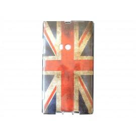 Coque TPU pour Nokia Lumia 920 UK/Angleterre vintage + film protection écran offert