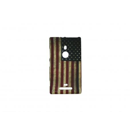 Coque pour Nokia Lumia 925 USA/Etats-Unis vintage + film protection écran offert