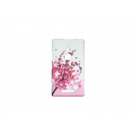Coque pour Nokia Lumia 925 petites fleurs roses + film protection écran offert