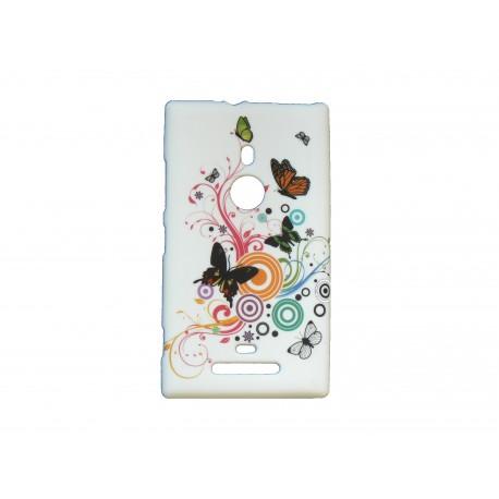 Coque pour Nokia Lumia 925 papillons multicolores + film protection écran offert