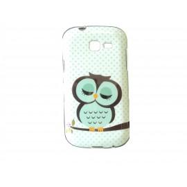 Coque TPU Samsung Galaxy Trend Lite S7390 hiboux + film protection écran offert