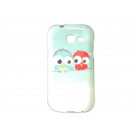 Coque TPU Samsung Galaxy Trend Lite S7390 oiseaux+ film protection écran offert