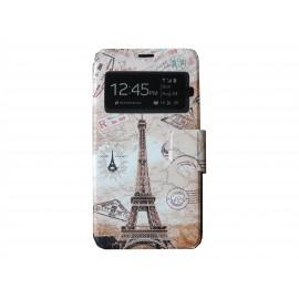 Pochette pour Samsung Galaxy S5 G900 Tour Eiffel + film protection écran