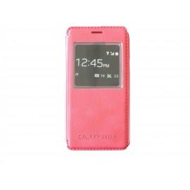 Pochette pour Samsung Galaxy S5 Mini G800 rose + film protection écran