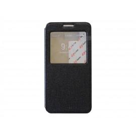 Pochette Inote Samsung Galaxy Alpha G850 noire + film verre trempé Incassable