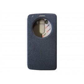 Pochette Inote LG G3 bleue nuit + film verre trempé Incassable