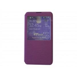 Pochette Inote pour Samsung Galaxy Note 3 N9000 violette + film verre trempé Incassable
