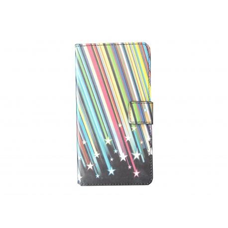 Pochette pour Wiko Rainbow étoiles filantes + film protection écran