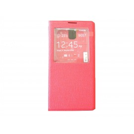 Pochette Inote pour Samsung Galaxy Note 4 N910 rouge + film protection écran