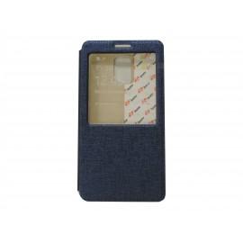 Pochette Inote pour Samsung Galaxy Note 4 N910 bleue nuit + film verre trempé incassable