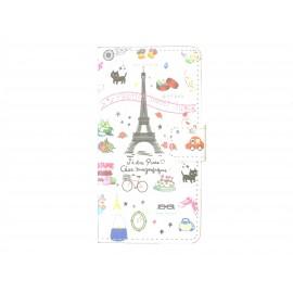 Pochette pour Sony Xperia Z3 compact Paris  + film protection écran