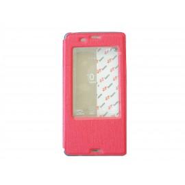 Pochette Inote pour Sony Xperia Z3 rouge+ film verre trempé incassable