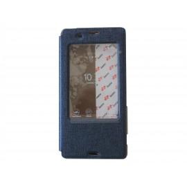 Pochette Inote pour Sony Xperia Z3 bleue nuit + film protection écran offert