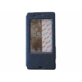 Pochette Inote pour Sony Xperia Z3 bleue nuit + film verre trempé incassable