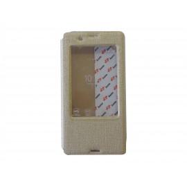 Pochette Inote pour Sony Xperia Z3 or + film verre trempé incassable