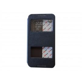 Pochette Inote pour HTC Desire 816 bleue nuit + film protection écran
