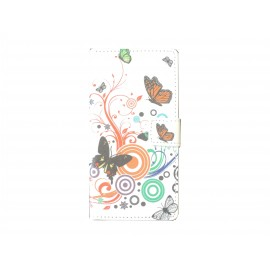 Pochette pour Sony Xperia Z3 papillons multicolores + film protection écran