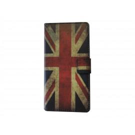 Pochette pour Wiko Wax drapeau Angleterre/UK + film protection écran