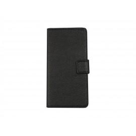 Pochette pour Wiko Wax noire + film protection écran