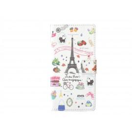 Pochette pour Wiko Getaway Tour Eiffel + film protection écran