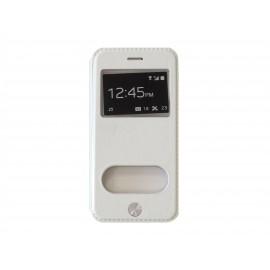 Pochette pour Iphone 6 simili-cuir blanche + film protection écran offert