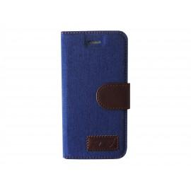 Pochette pour Iphone 6 jean bleu + film protection écran offert