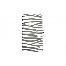 Pochette pour Samsung Galaxy Core Plus G350 zèbre noir blanc + film protection écran offert