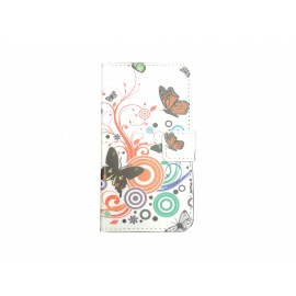 Pochette pour Samsung Galaxy Core Plus G350 papillons multicolores+ film protection écran offert