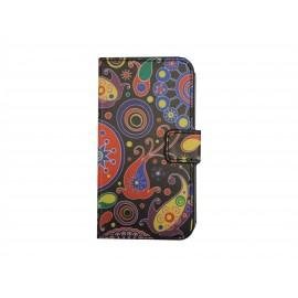 Pochette pour Samsung Galaxy Core Plus G350 cachemire + film protection écran offert